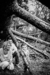 family portrait at Elizabeth park by Christina Wesley Photography